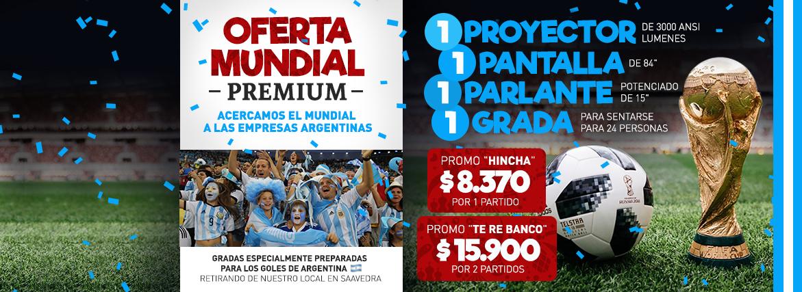 Combo Mundial Premium: Proyector + Pantalla + Parlante Potenciado + Gradas